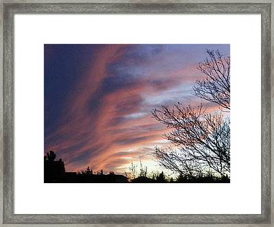 Framed Print featuring the photograph Raging Sky by Barbara Griffin