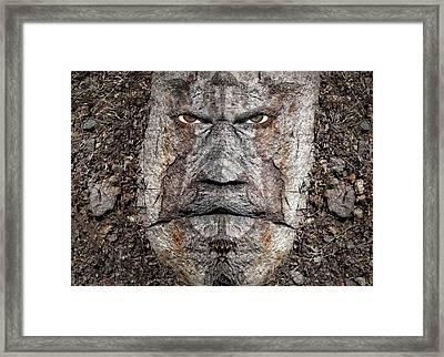 Raging Troll Framed Print