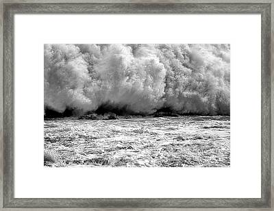 Raging Water Framed Print