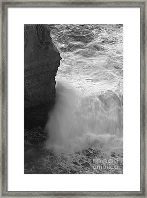 Raging Waves Framed Print by Hideaki Sakurai