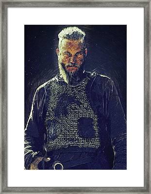 Ragnar Lothbrok Framed Print by Semih Yurdabak