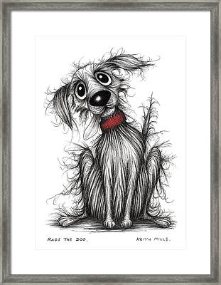 Rags The Dog Framed Print by Keith Mills