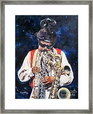 Rahsaan Roland Kirk- Jazz Framed Print by Sigrid Tune
