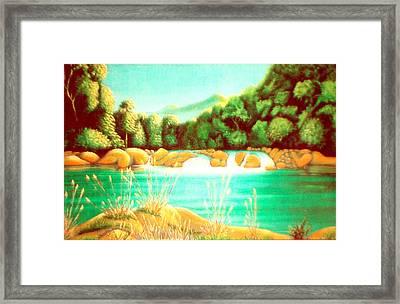 Rai Valley Falls Si Nz Framed Print by Barbara Stirrup