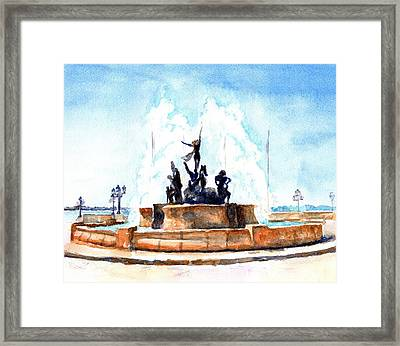 Raices Fountain San Juan Puerto Rico Framed Print