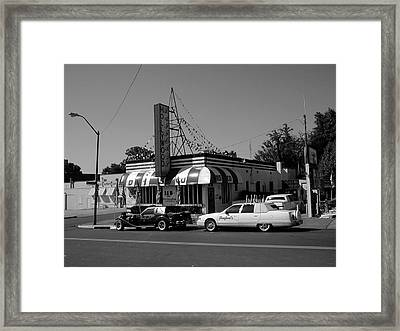 Framed Print featuring the photograph Raifords Disco Memphis A Bw by Mark Czerniec