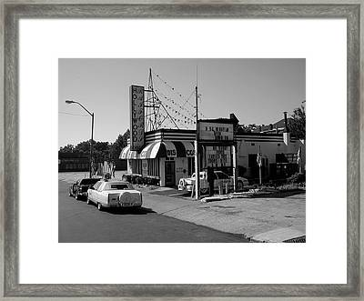 Framed Print featuring the photograph Raifords Disco Memphis B Bw by Mark Czerniec