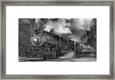 Rail And Rain 2 Framed Print