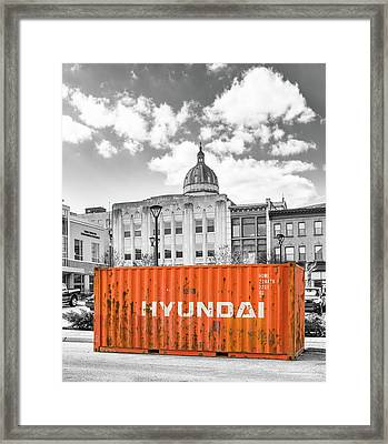 Container In Altoona Framed Print by Eclectic Art Photos