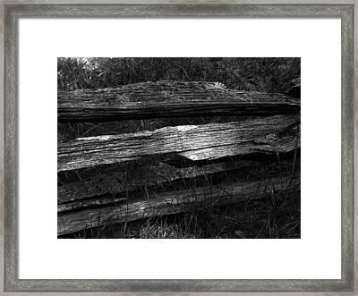 Rail Fence Detail Framed Print by Michael L Kimble