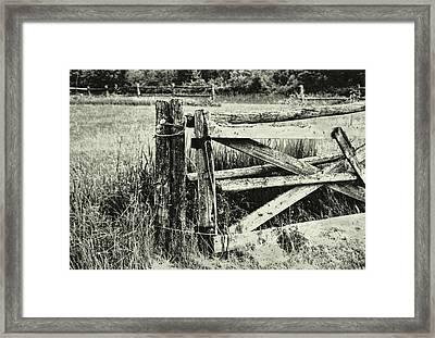 Rail Fence Framed Print by JAMART Photography