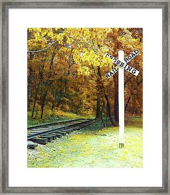 Rail Road Crossing To Neverland Framed Print by Patricia Awapara