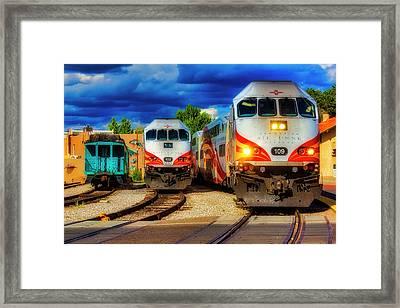 Rail Runner Express Framed Print