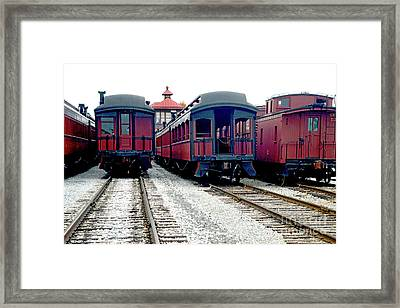 Framed Print featuring the photograph Rail Stock by Paul W Faust - Impressions of Light