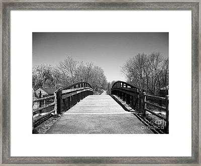 Rail Trail Bridge, Newburyport, Massachusetts Framed Print