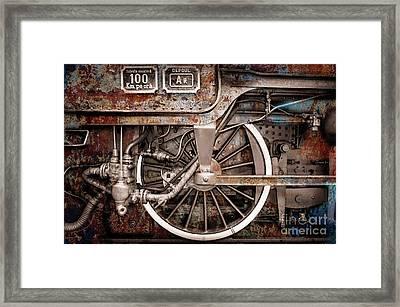 Rail Wheel Grunge Detail,  Steam Locomotive 06 Framed Print