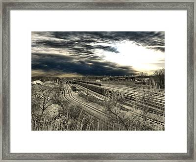 Rail Yard 4 Framed Print by Scott Hovind