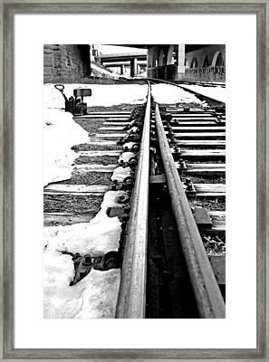 Rail Yard Switch Framed Print
