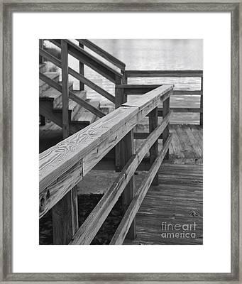 Railings Framed Print by Hideaki Sakurai