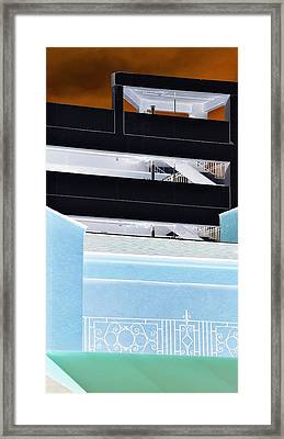 Railings Framed Print