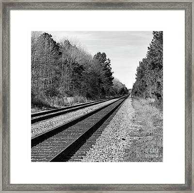 Railroad 8x8 Framed Print by Skip Willits