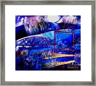Railroad Brdige  Framed Print by Angelina Marino