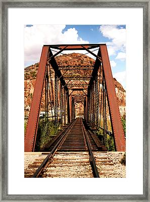 Railroad Bridge Framed Print