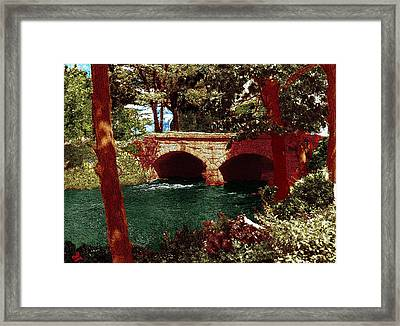 Railroad Bridge Framed Print by Cliff Wilson