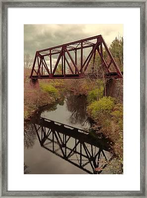 Railroad Bridge Framed Print by Laurie Breton