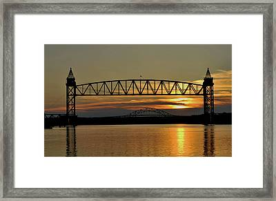 Railroad Bridge Over The Canal Framed Print
