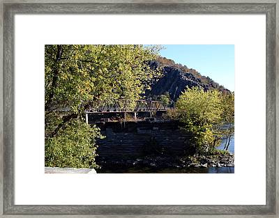 Railroad Bridge Over The Potomac Framed Print by Rebecca Smith