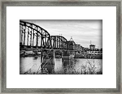 Railroad Bridge -bw Framed Print