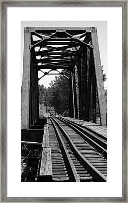 Railroad Bridge Framed Print by Sonja Anderson