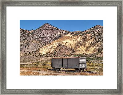 Framed Print featuring the photograph Railroad Car In A Beautiful Setting by Sue Smith
