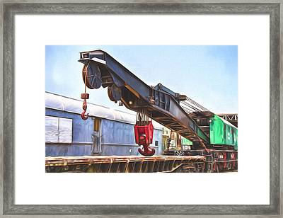 Railroad Crane Painterly Impressions Framed Print