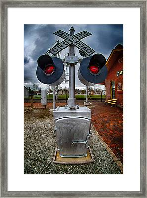 Railroad Crossing Signal Framed Print