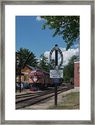 Framed Print featuring the photograph Railroad Crossing by Suzanne Gaff