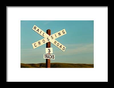 Crossing Framed Prints