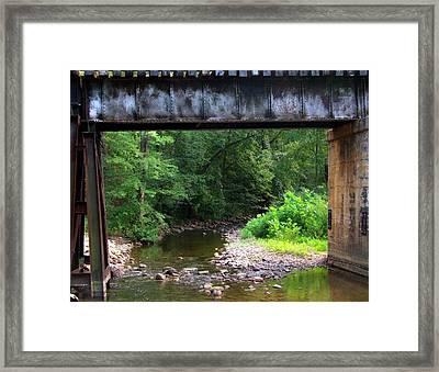 Railroad Landscape Framed Print