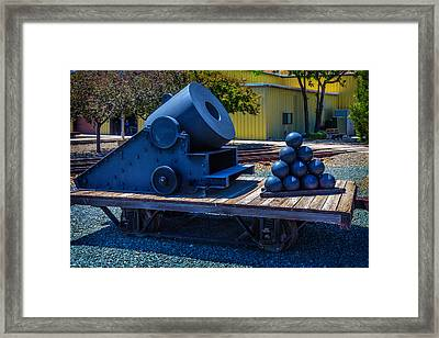 Railroad Mortar Framed Print