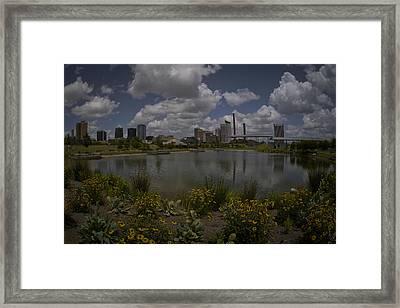 Railroad Park Skyline Framed Print