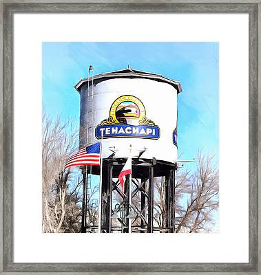 Framed Print featuring the photograph Railroad Park Tehachapi California Detail by Floyd Snyder