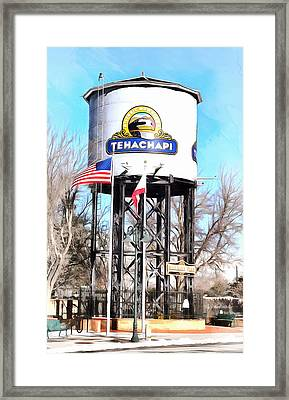 Framed Print featuring the photograph Railroad Park Tehachapi California by Floyd Snyder