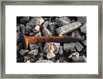 Railroad Spike Framed Print