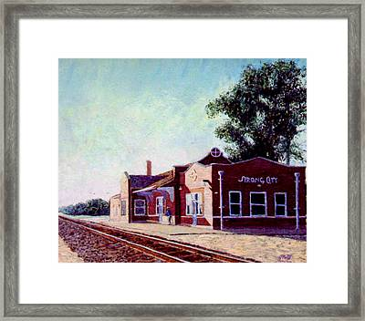 Railroad Station Framed Print by Stan Hamilton