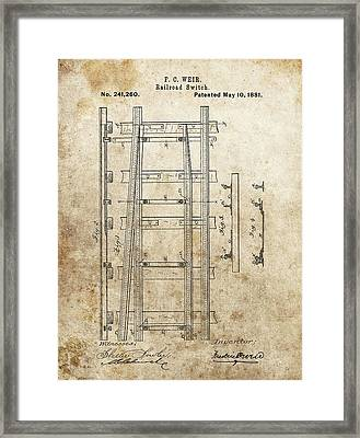 Railroad Switch Patent Framed Print