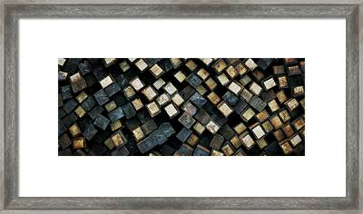 Railroad Ties Stacked Framed Print