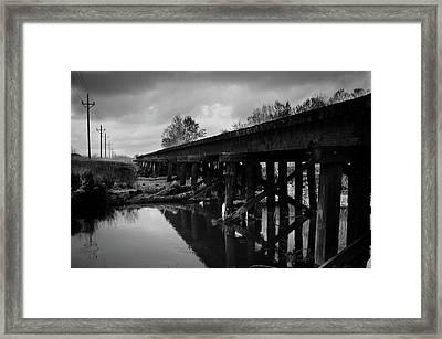 Railroad Tracks 2 Framed Print by Matthew Angelo
