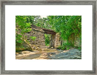 Railroad Tracks At Buttermilk/homewood Falls Framed Print