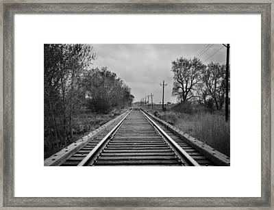 Railroad Tracks Framed Print by Matthew Angelo